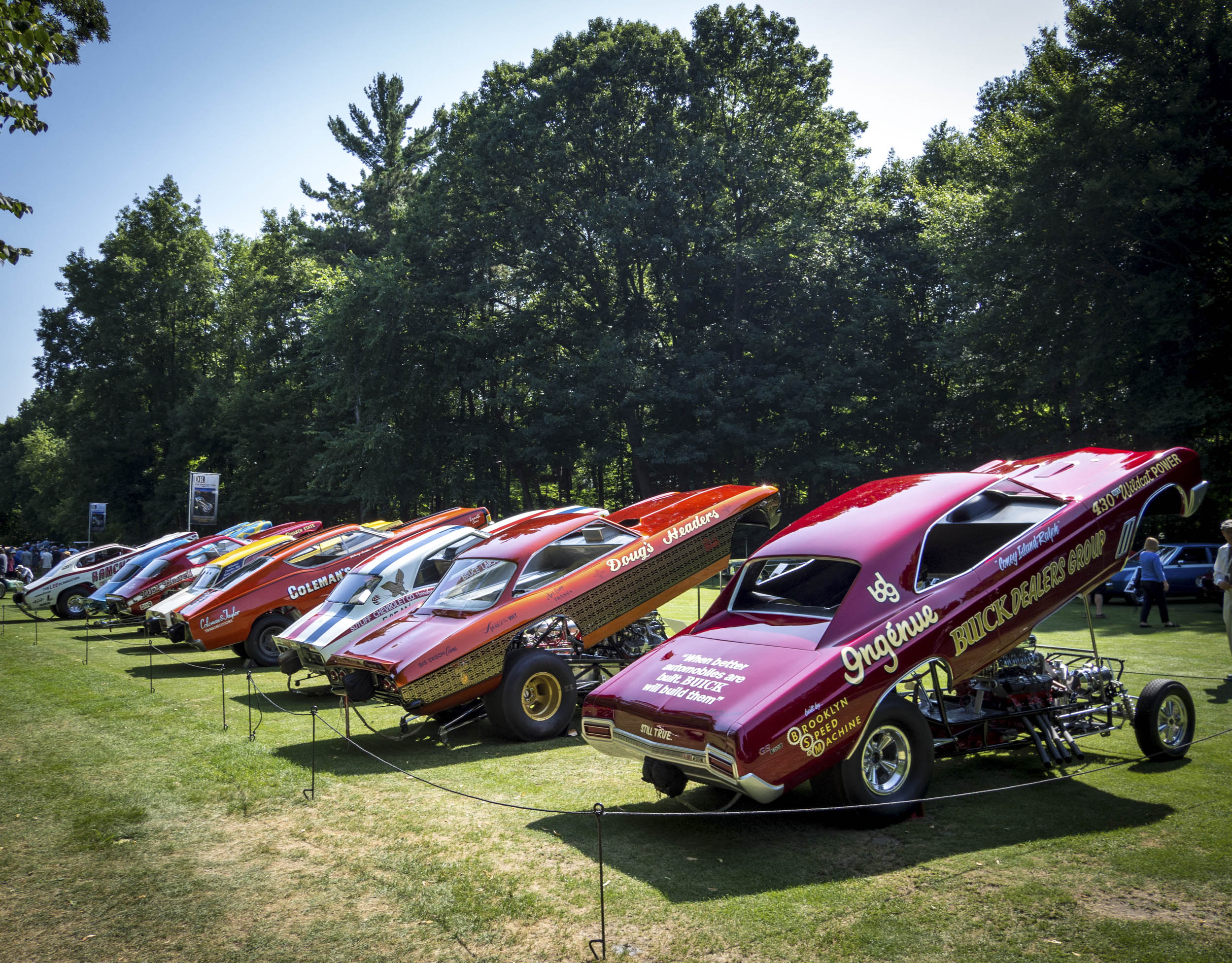 Drag Racing cars on display