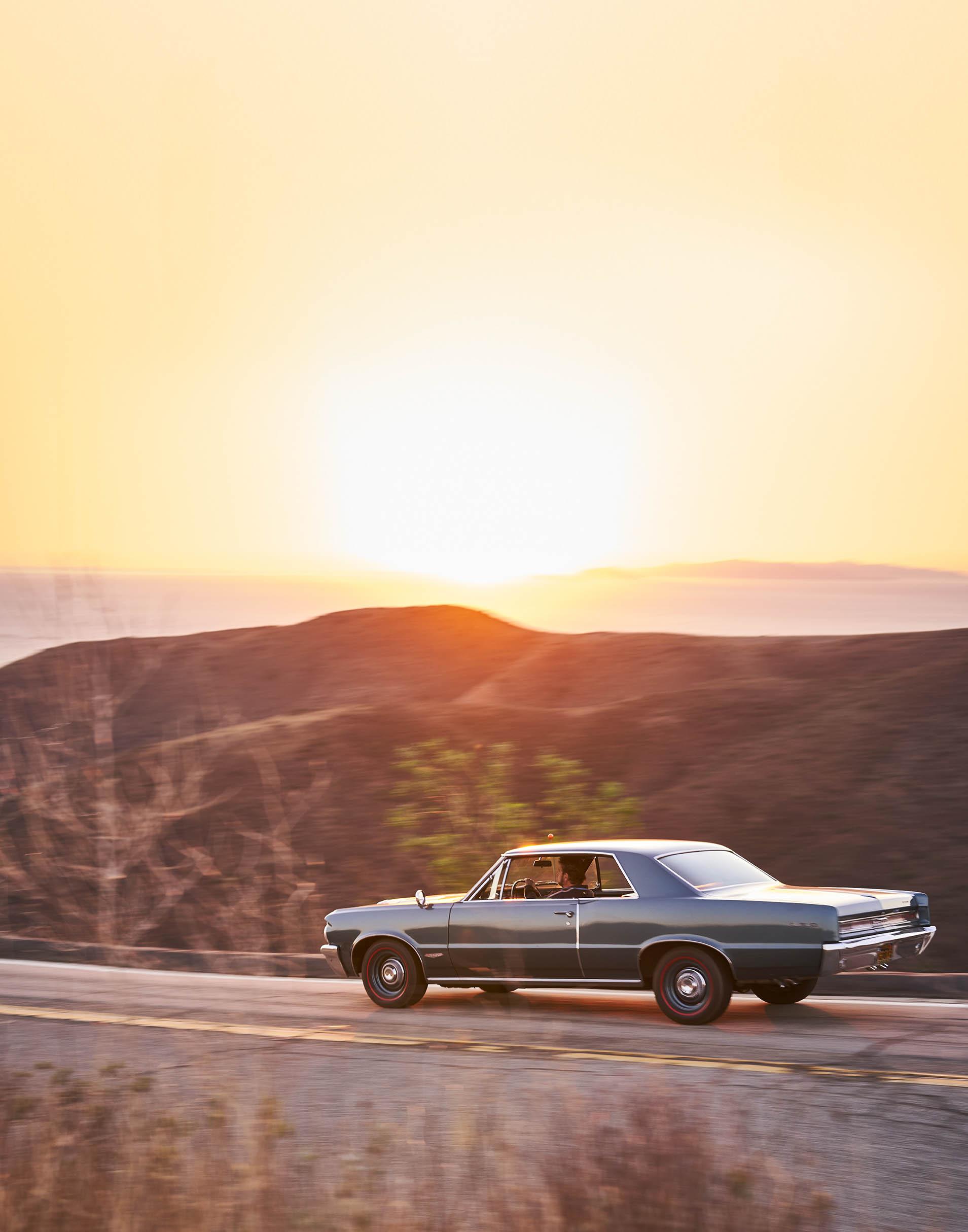 Pontiac GTO at sunset