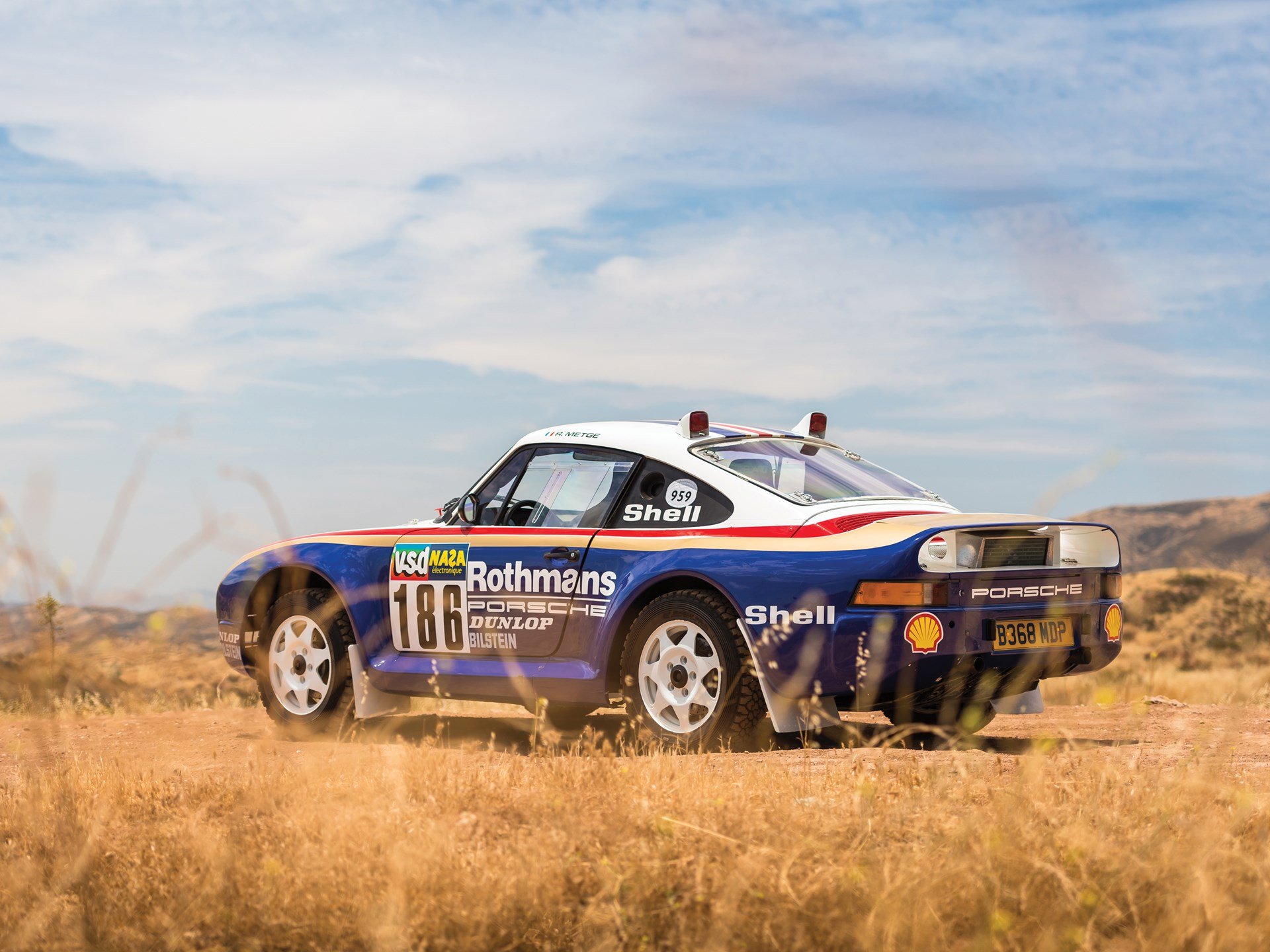 1985 Porsche 959 Paris-Dakar rear 3/4 long grass
