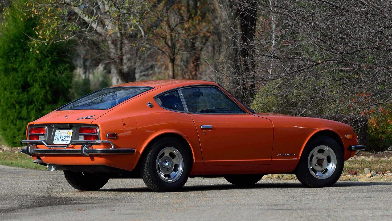 1973 Datsun 240Z Orange rear 3/4