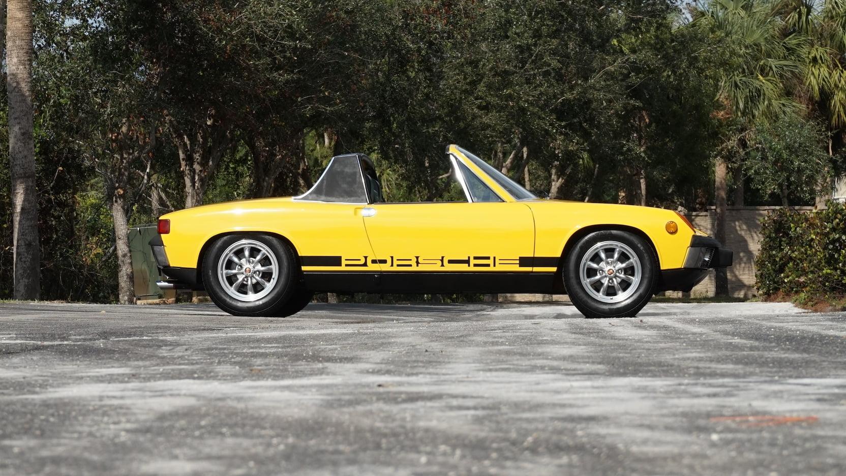 1973 Porsche 914 yellow side profile