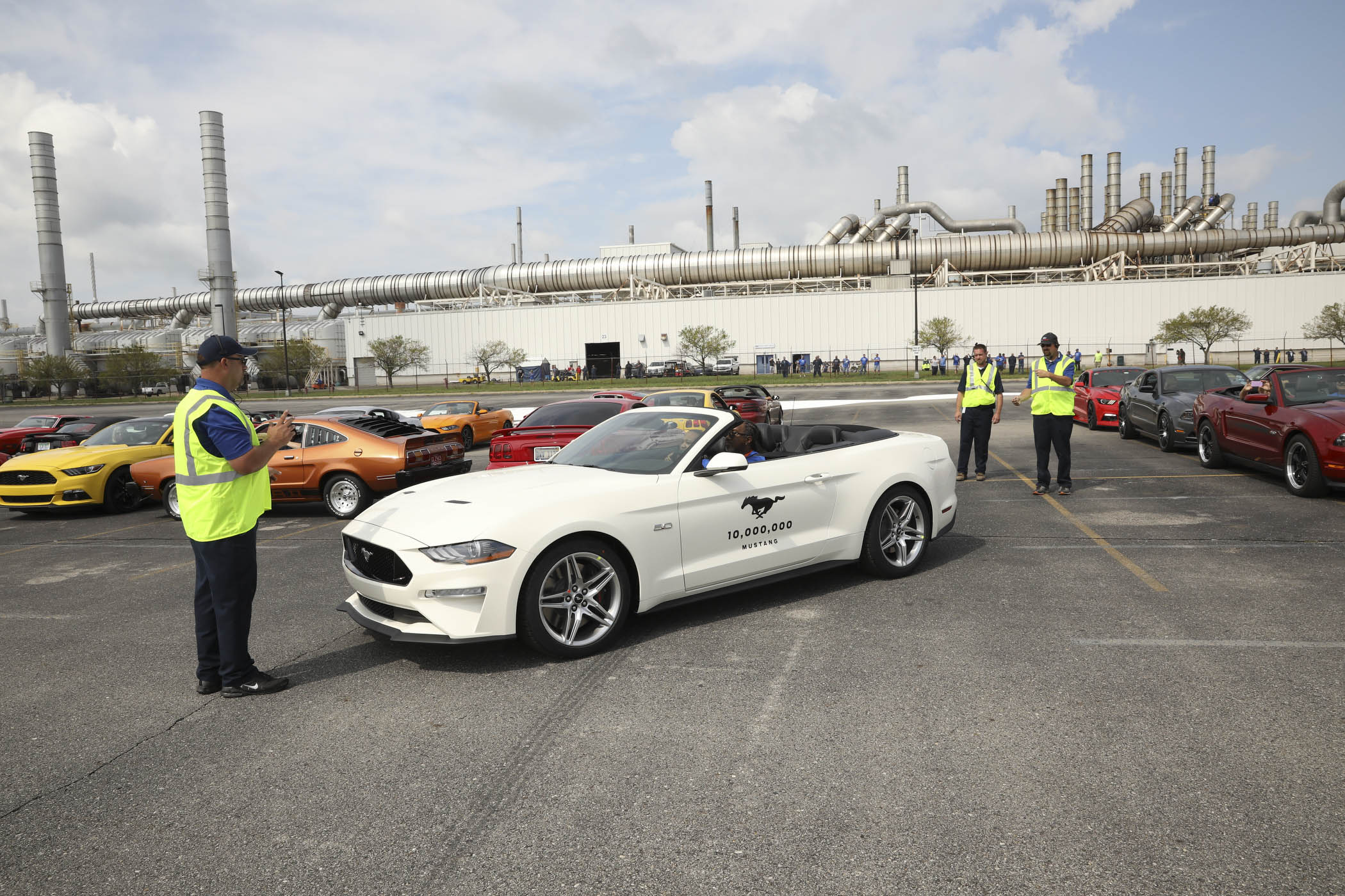 white 10 Millionth Mustang