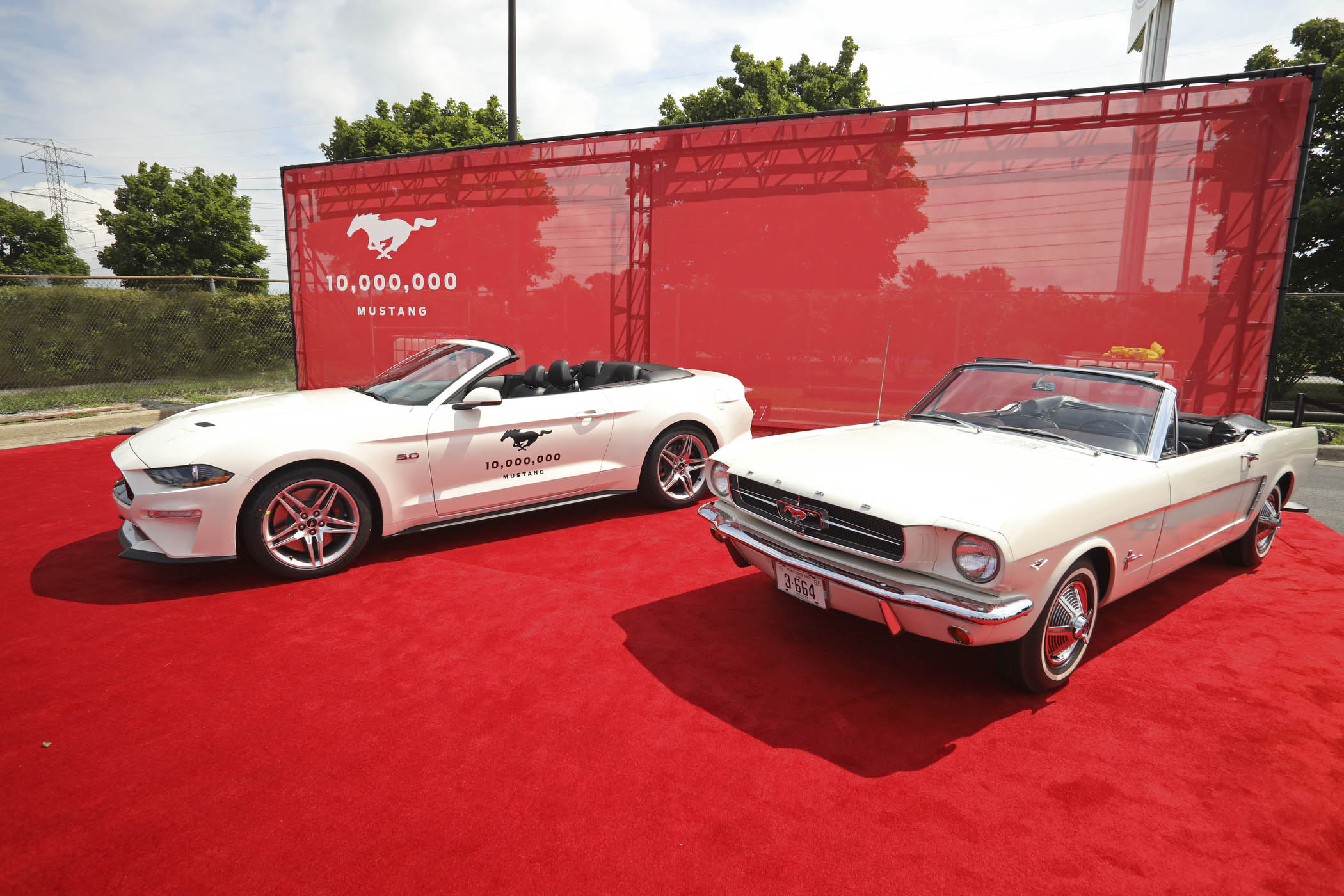 10 Millionth mustang with Mustang VIN001
