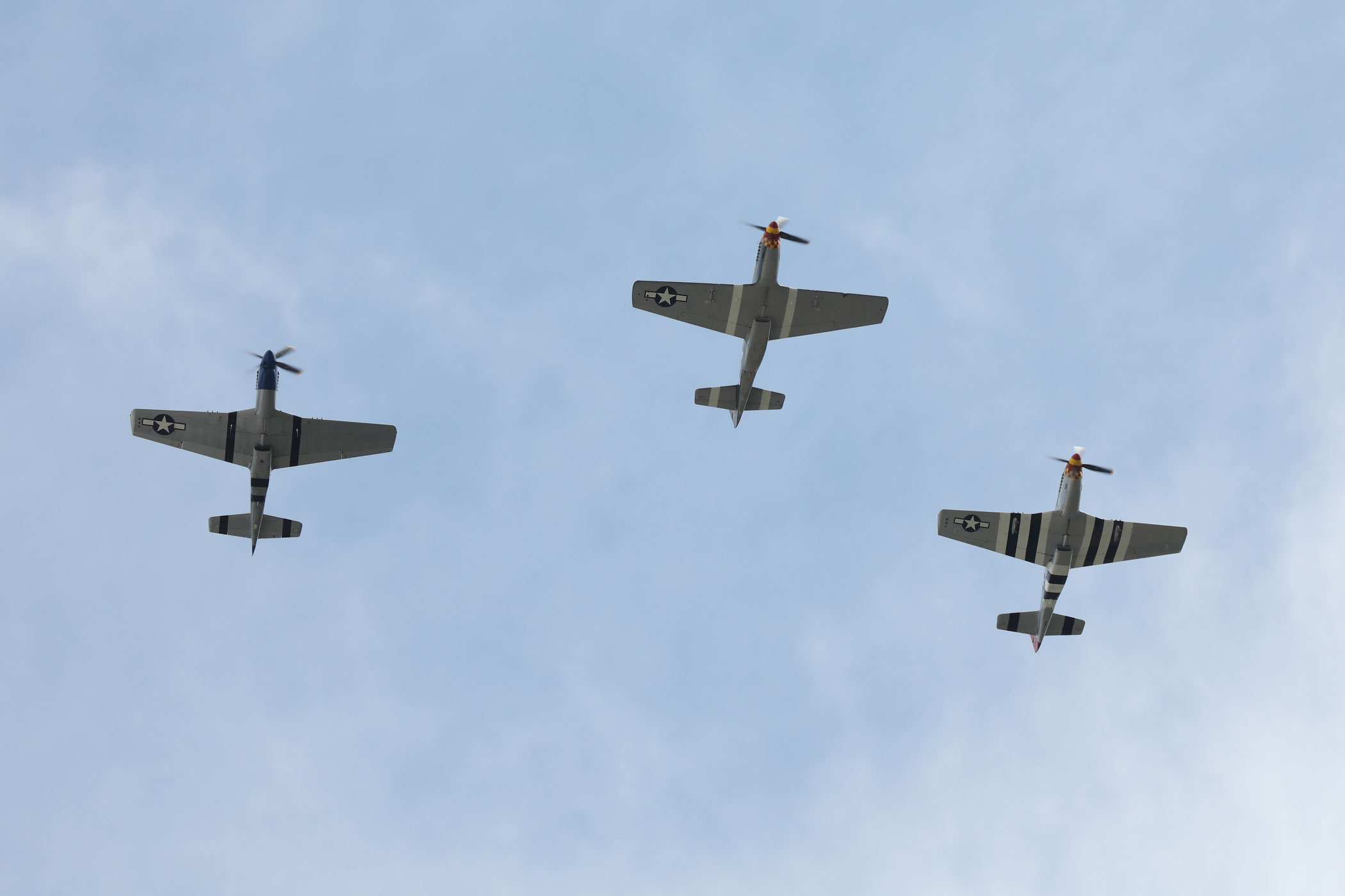 P51 Mustang planes overhead