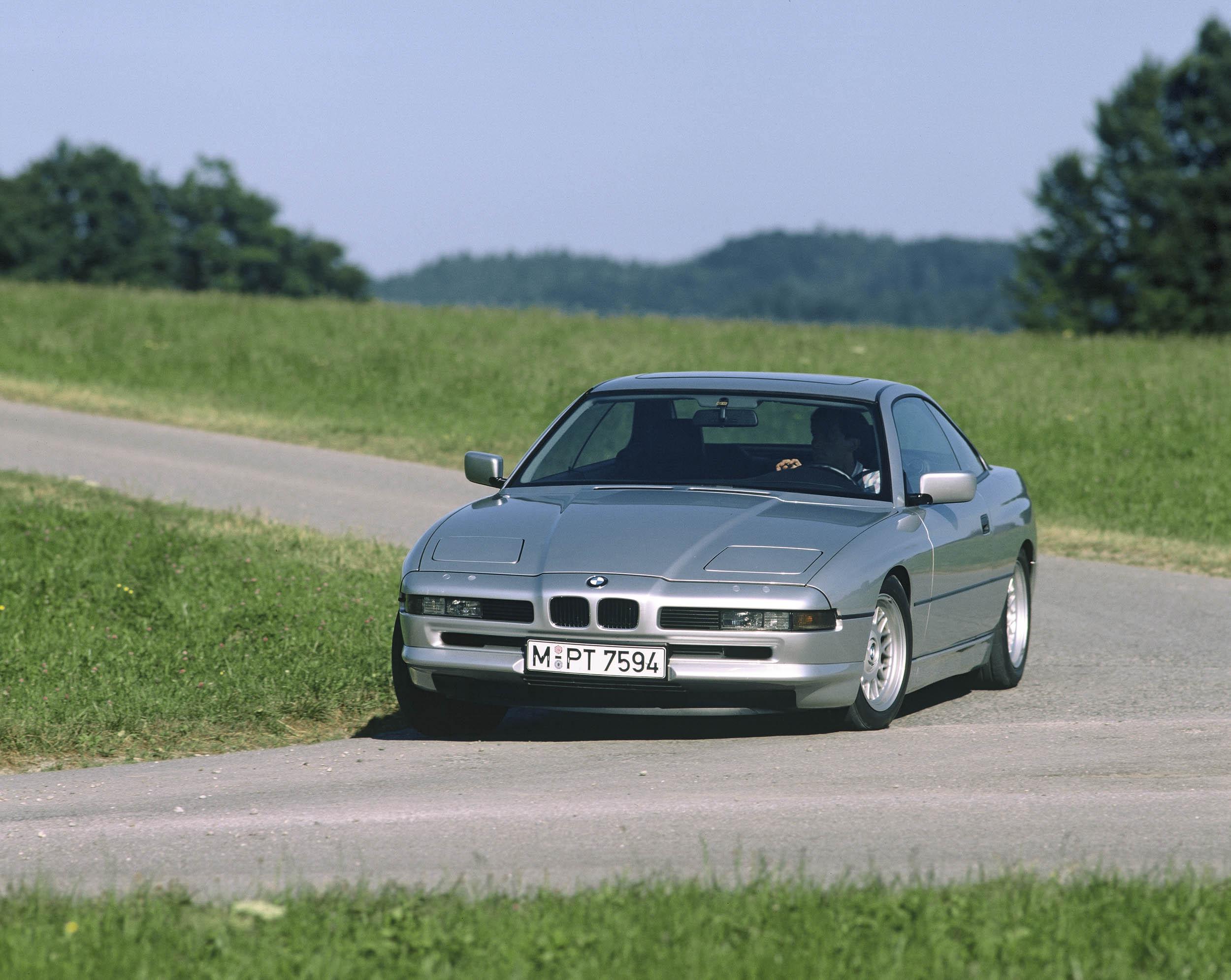 1990 BMW 850i front 3/4