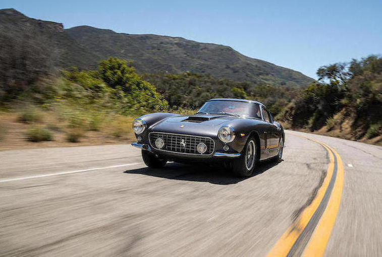 1962 Ferrari 250 GT SWB Berlinetta driving on road
