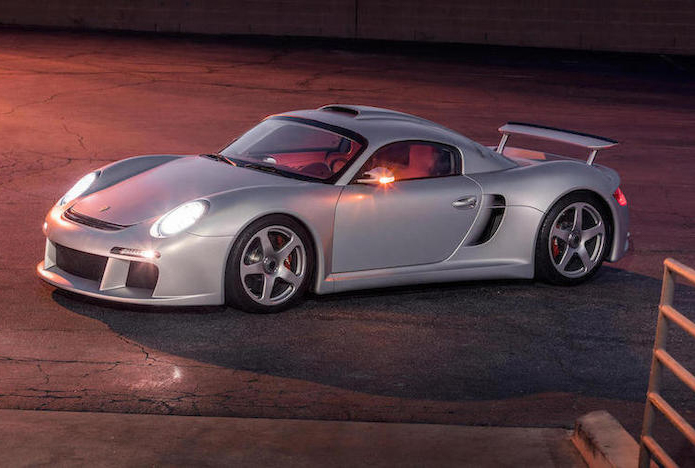 2009 RUF CTR3 front 3/4 sunset