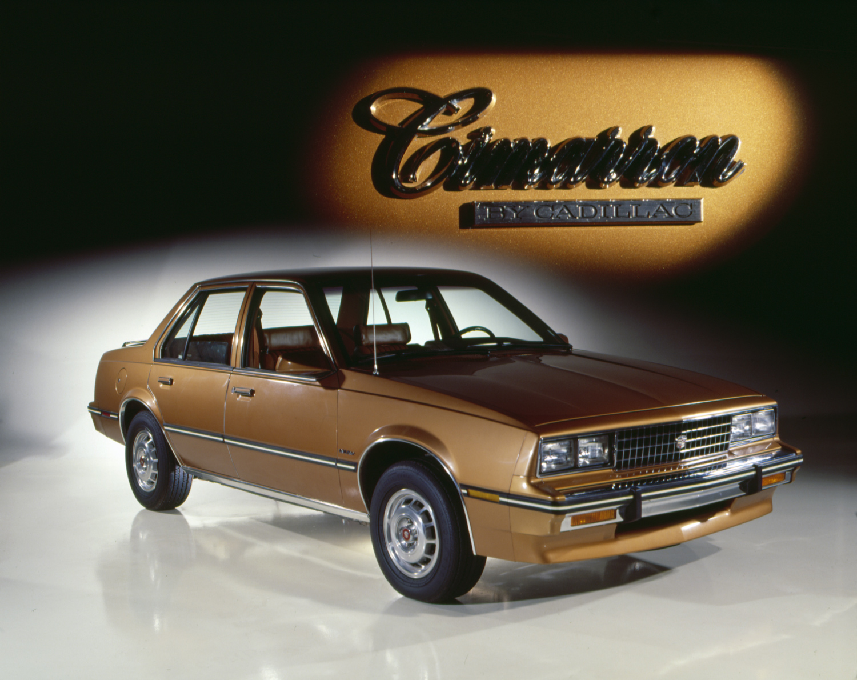 1982 Cadillac Cimarron gold front 3/4