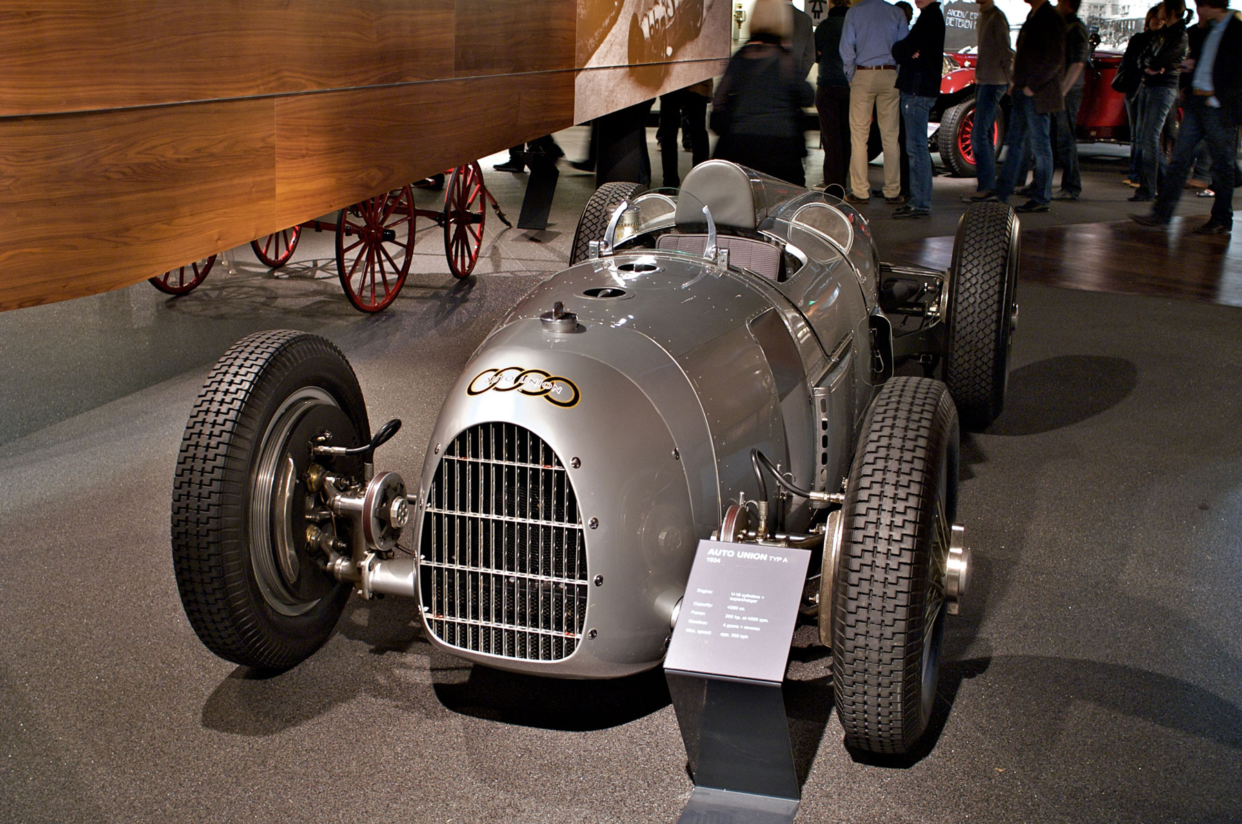 1934 Auto Union Type A replica in a museum