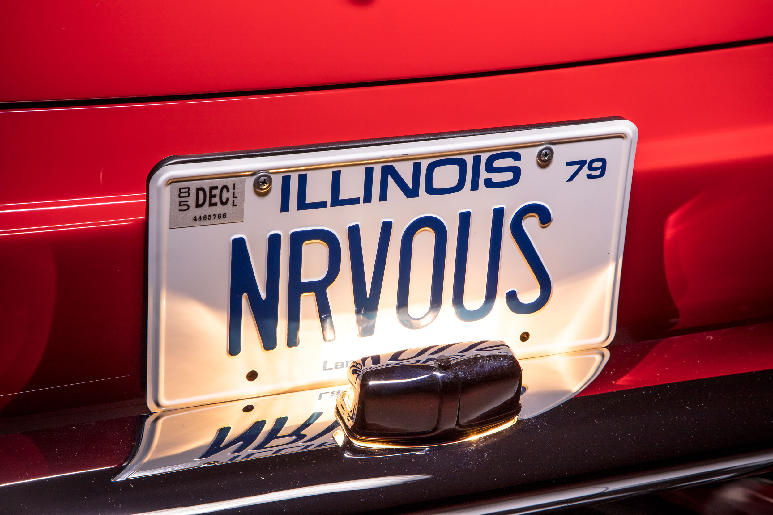 All the license plates in Ferris hint at other Hughes movies, except NRVOUS, which aptly describes Cameron.