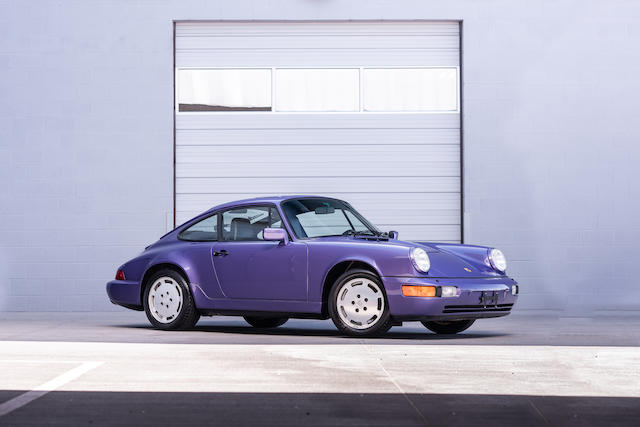 1991 Porsche 911 Carrera 4 purple 3/4 front