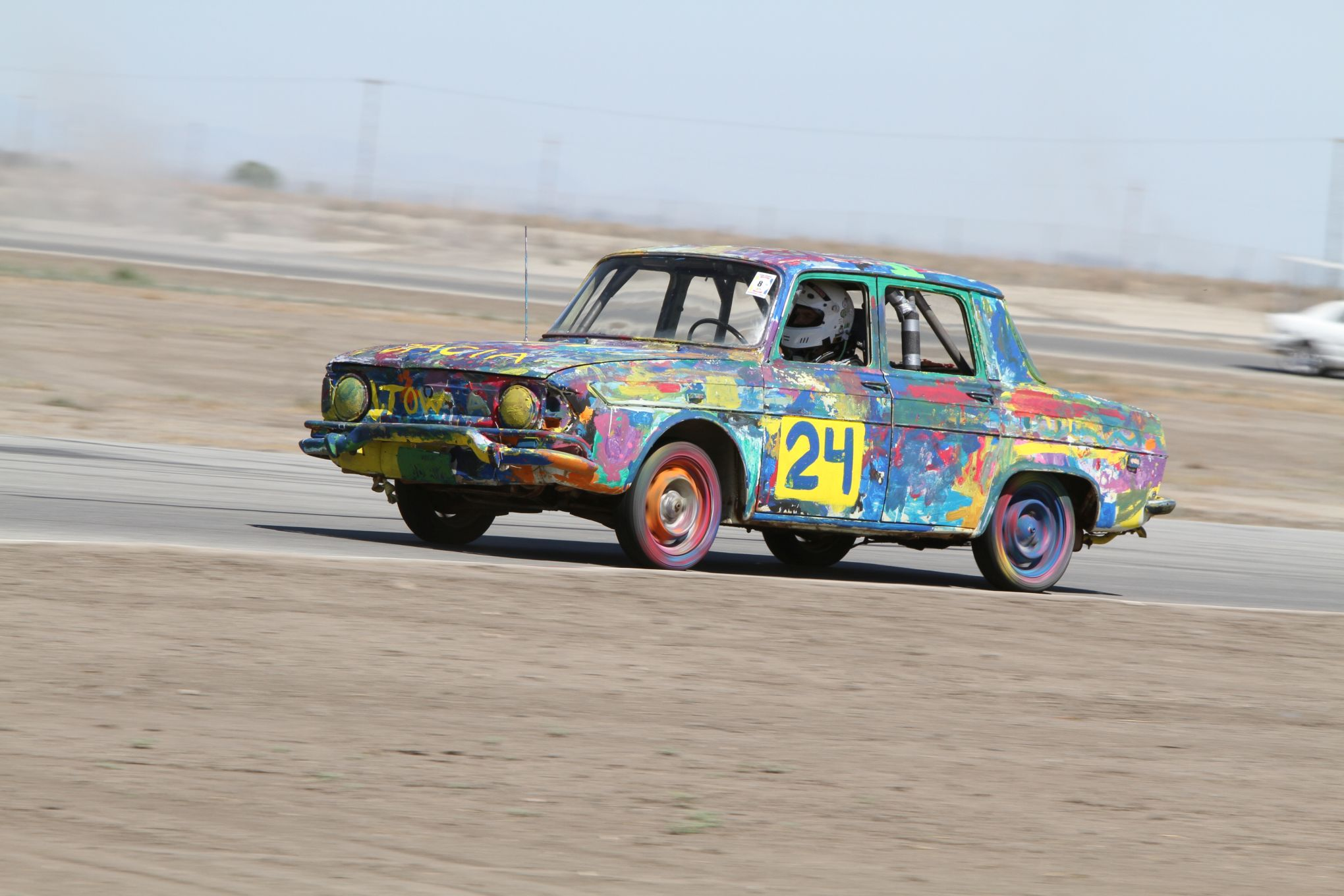 painted car at 24 Hours of Lemons