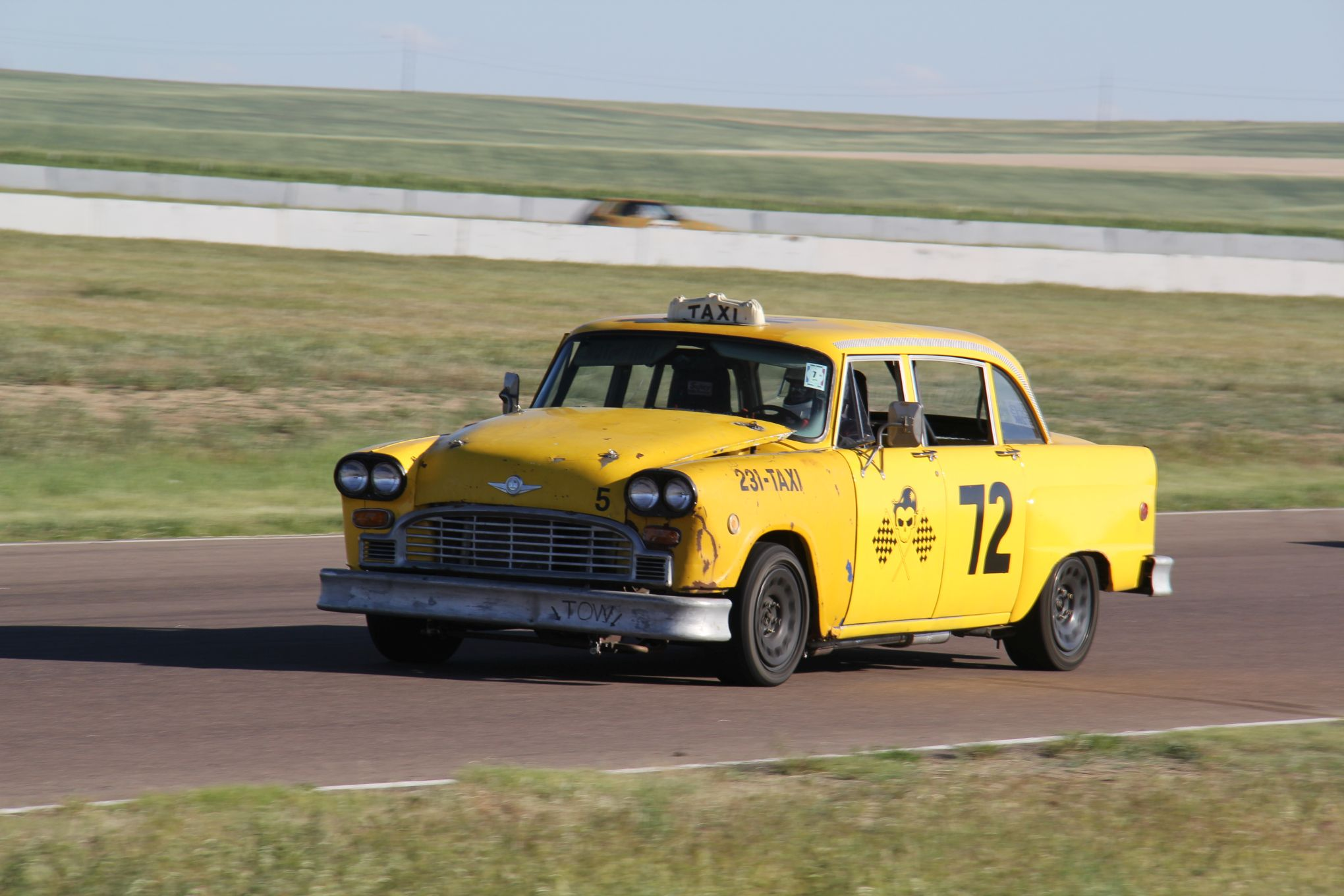 taxi themed car at 24 Hours of Lemons
