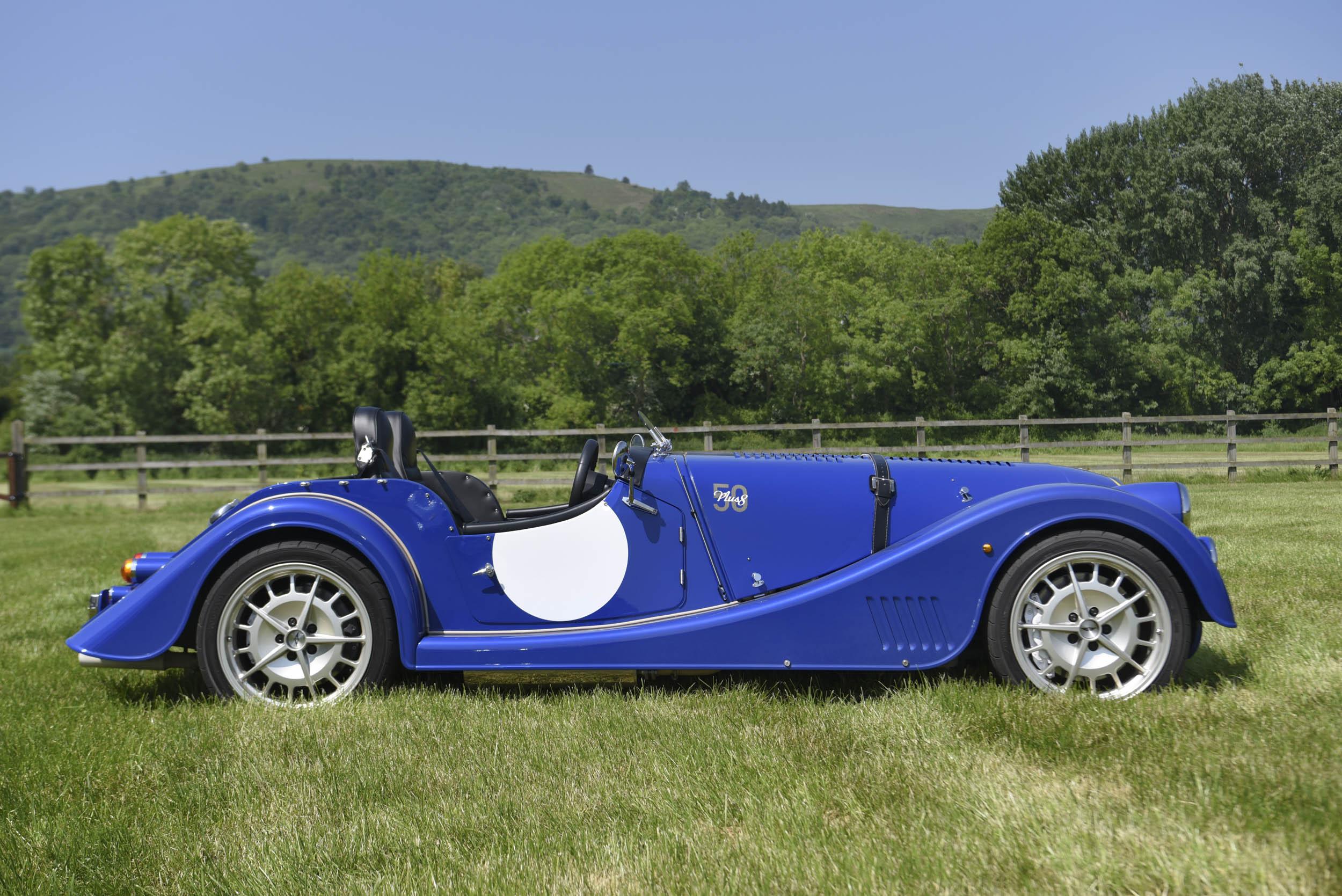 blue Morgan Plus 8 profile