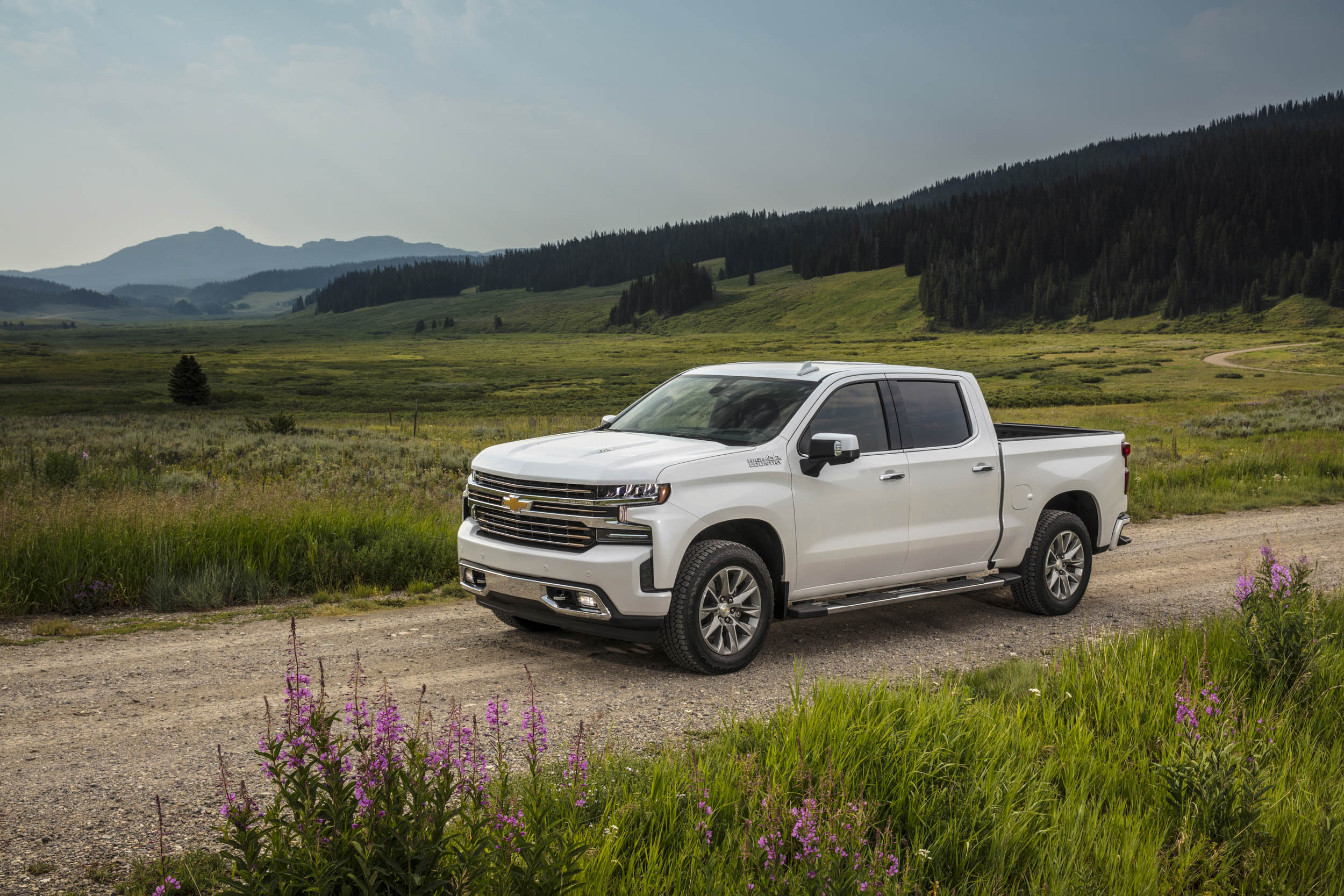 2019 chevrolet silverado high country on the road