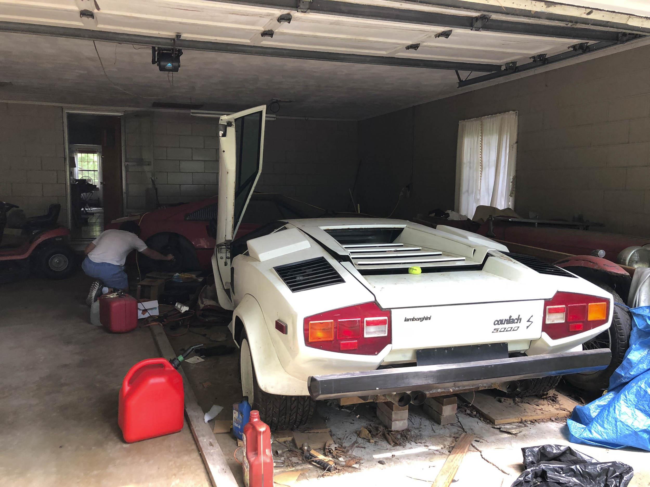 Lamborghini Countach garage find