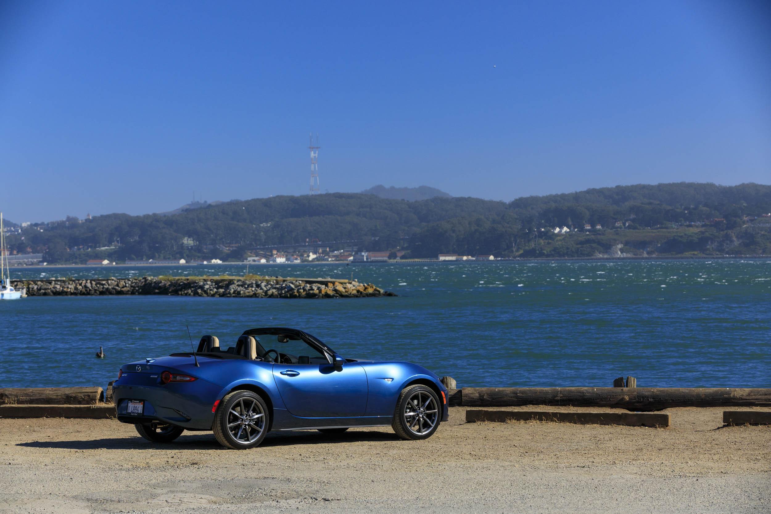 Blue 2019 Mazda MX-5 Miata