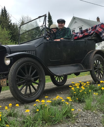 Ken and Dianna Lundberg in her grandfather's 1922 Ford Model T