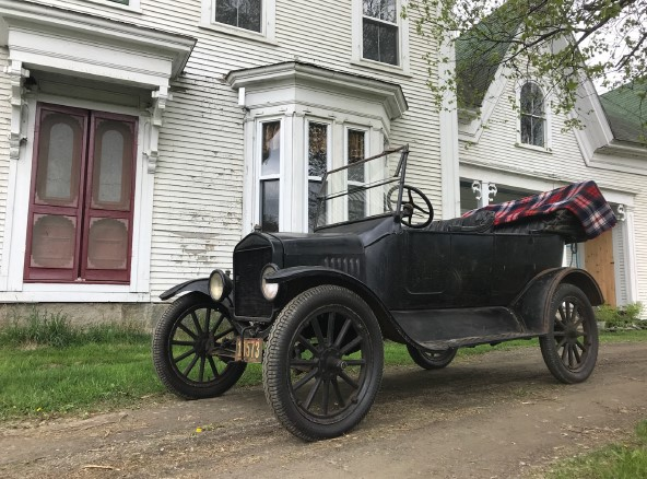 The 1922 Model T that Holman Amey received as a gift from his father for being valedictorian of his high school class in 1923