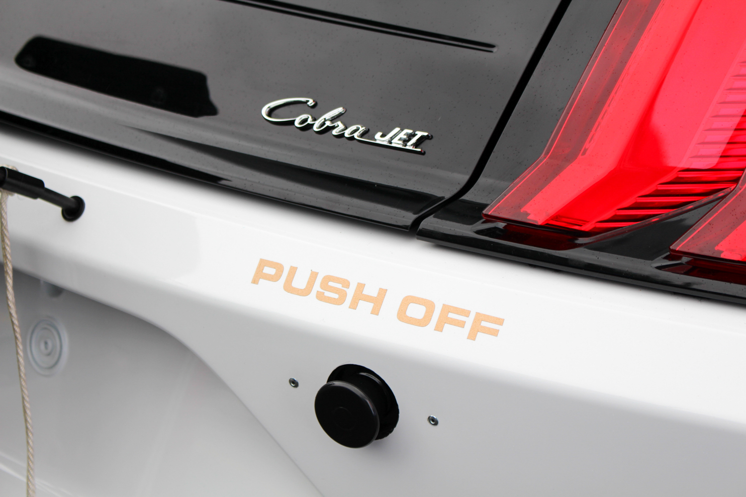 2018 Ford Mustang Cobra Jet badge rear