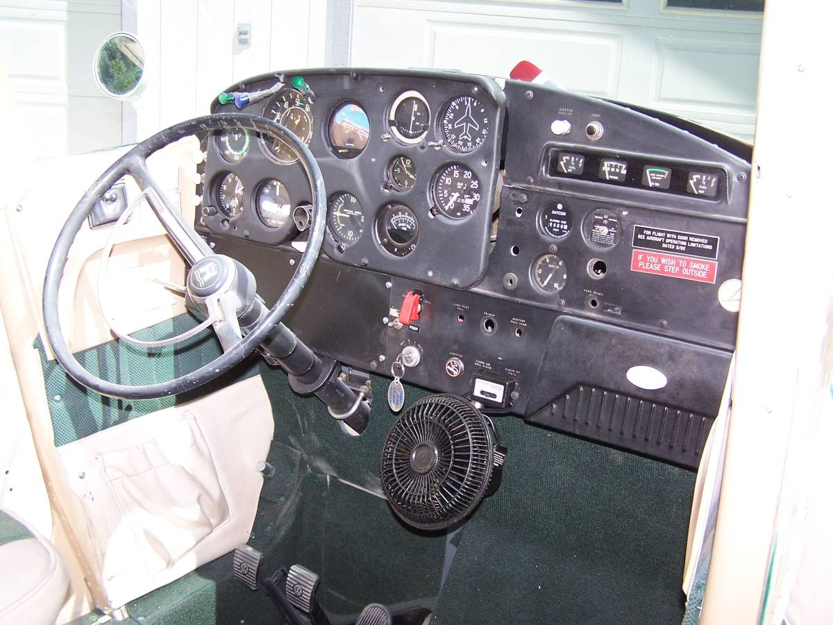 1968 VW Beetle/1959 Cessna 172 interior steering wheel