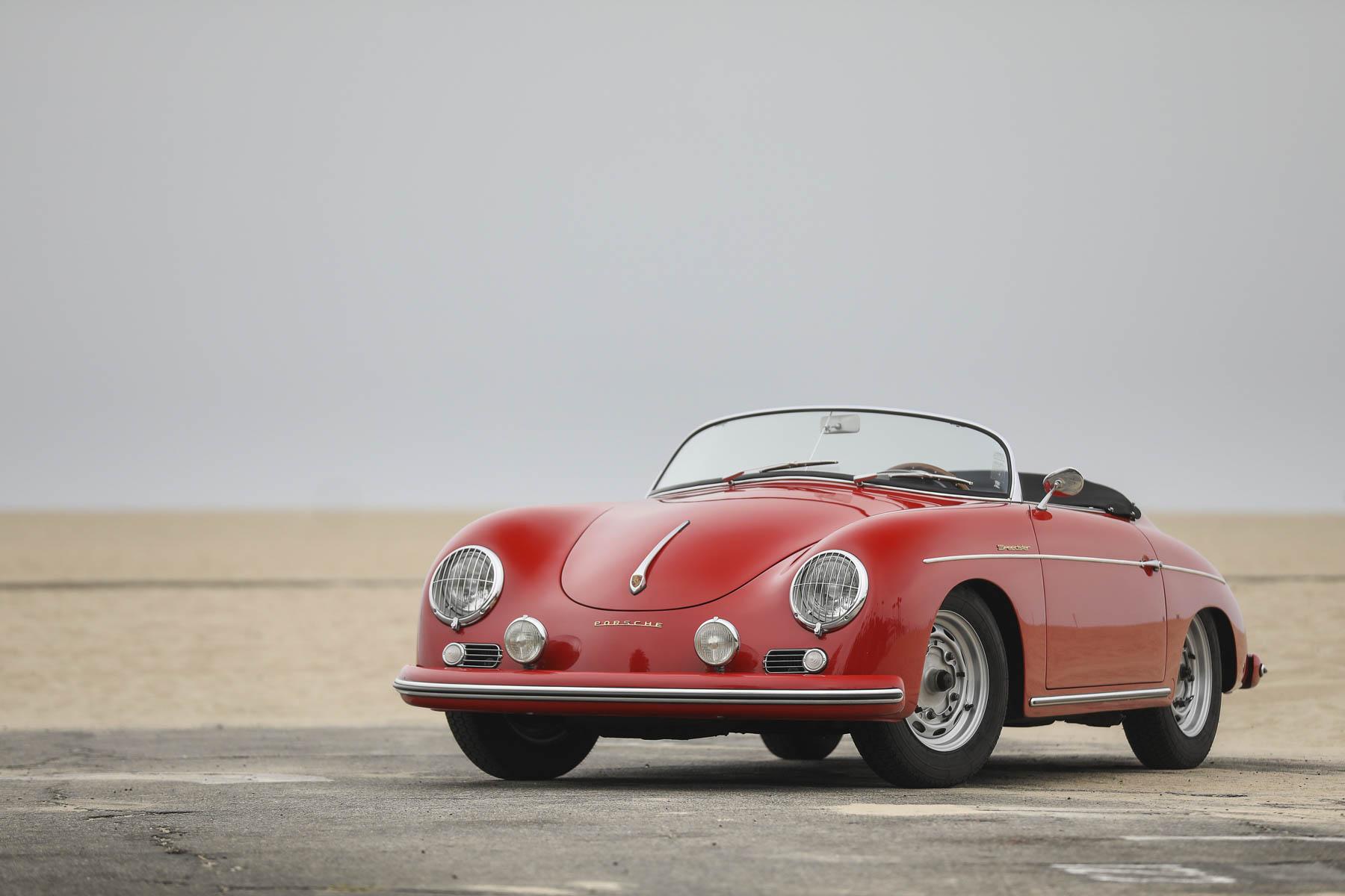 1957 Porsche 356 A Speedster at the beach
