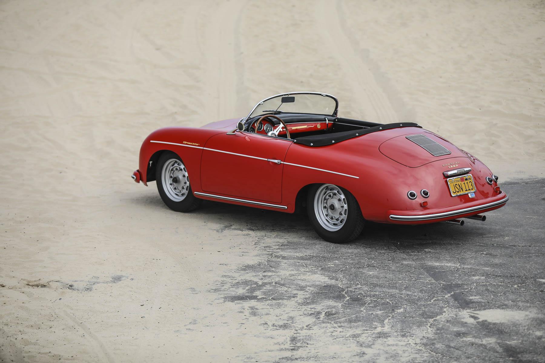 1957 Porsche 356 A Speedster overhead