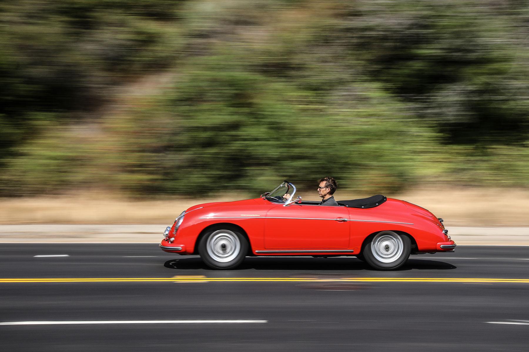 1957 Porsche 356 A Speedster driving