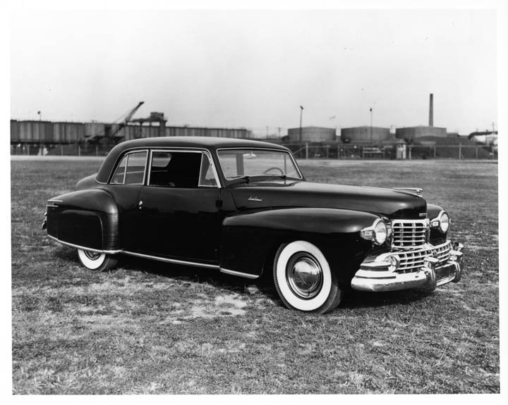 Babe Ruth's 1948 Lincoln Continental black and white photo