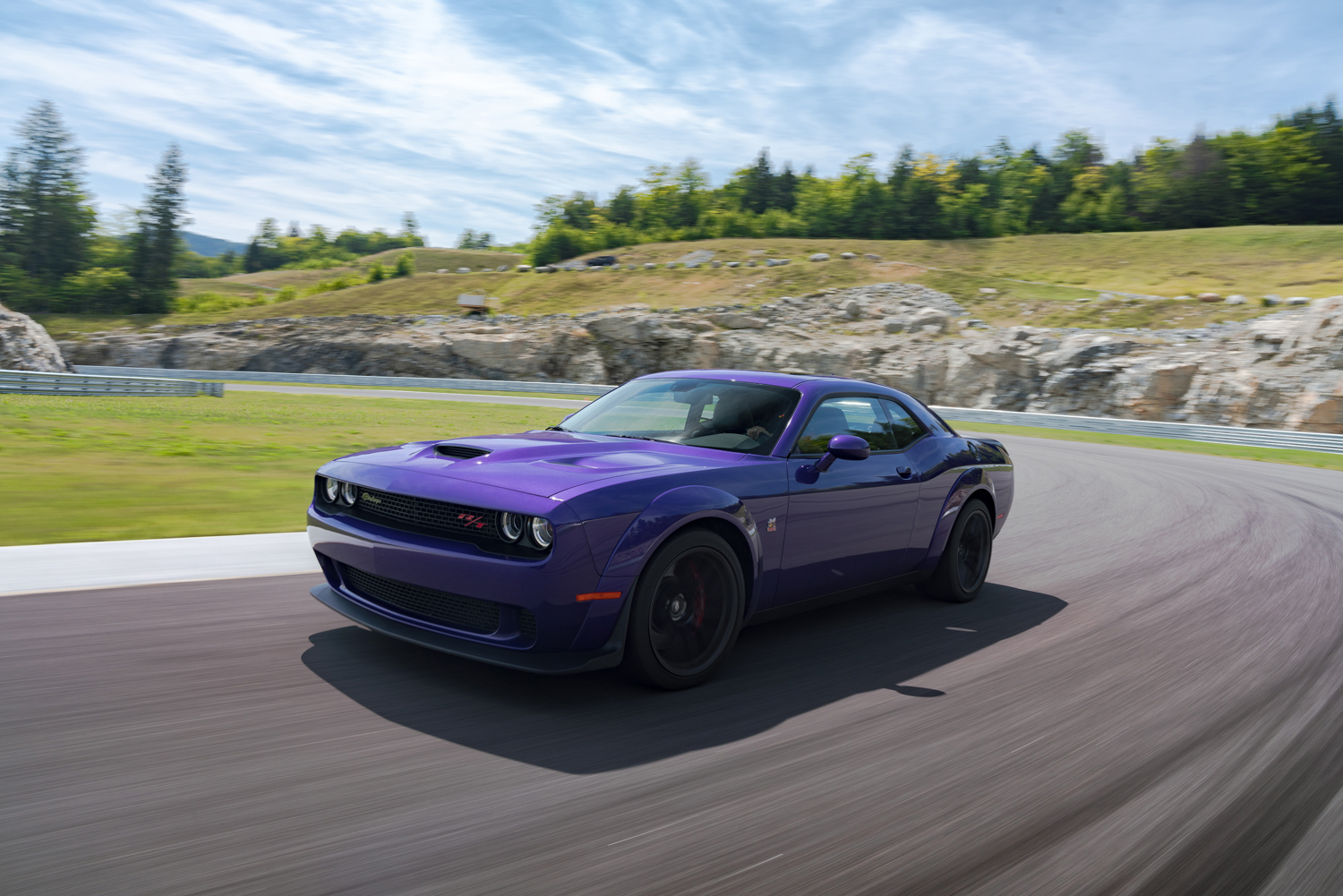 2019 Challenger R/T Scat Pack Widebody on track drivers side