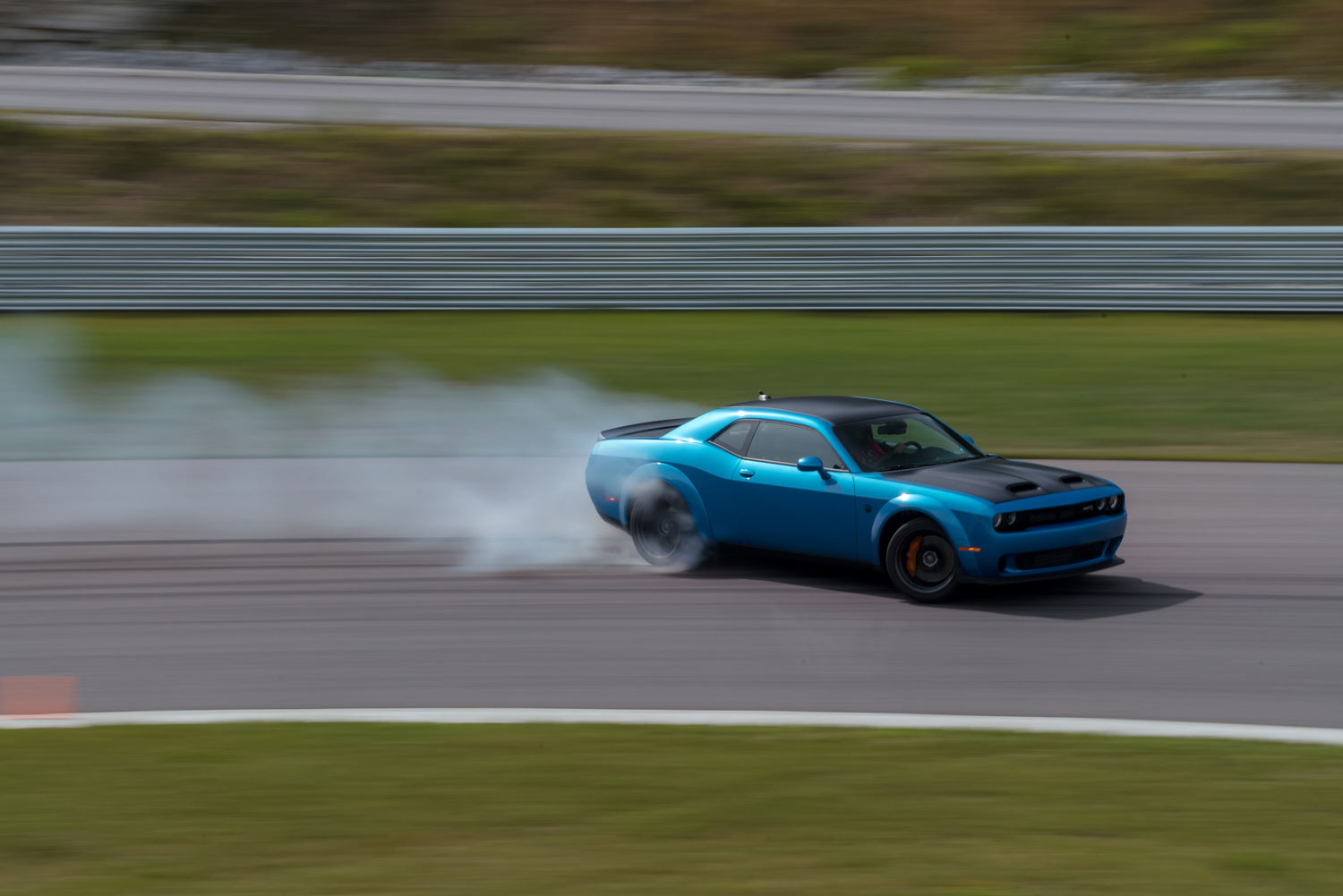 2019 Challenger SRT Hellcat Redeye Widebody drifting on track