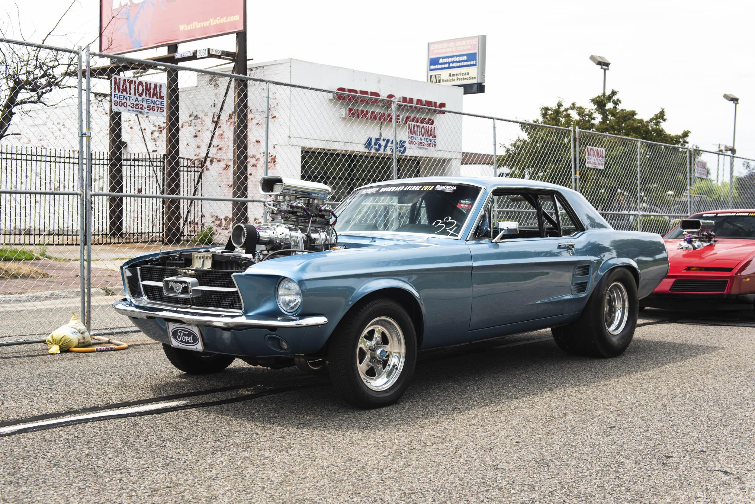 blown out Mustang at Roadkill nights