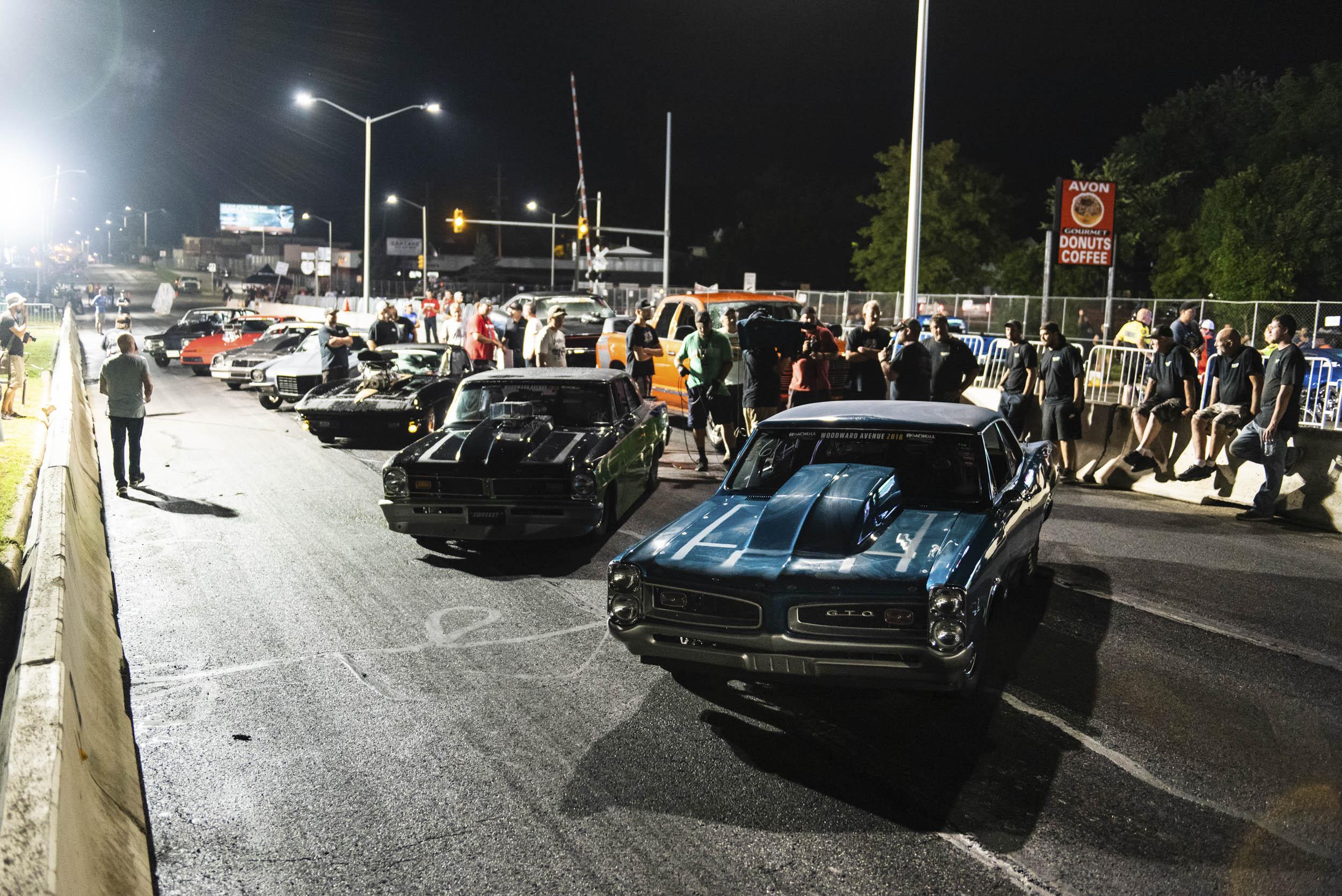 dragstrip car show