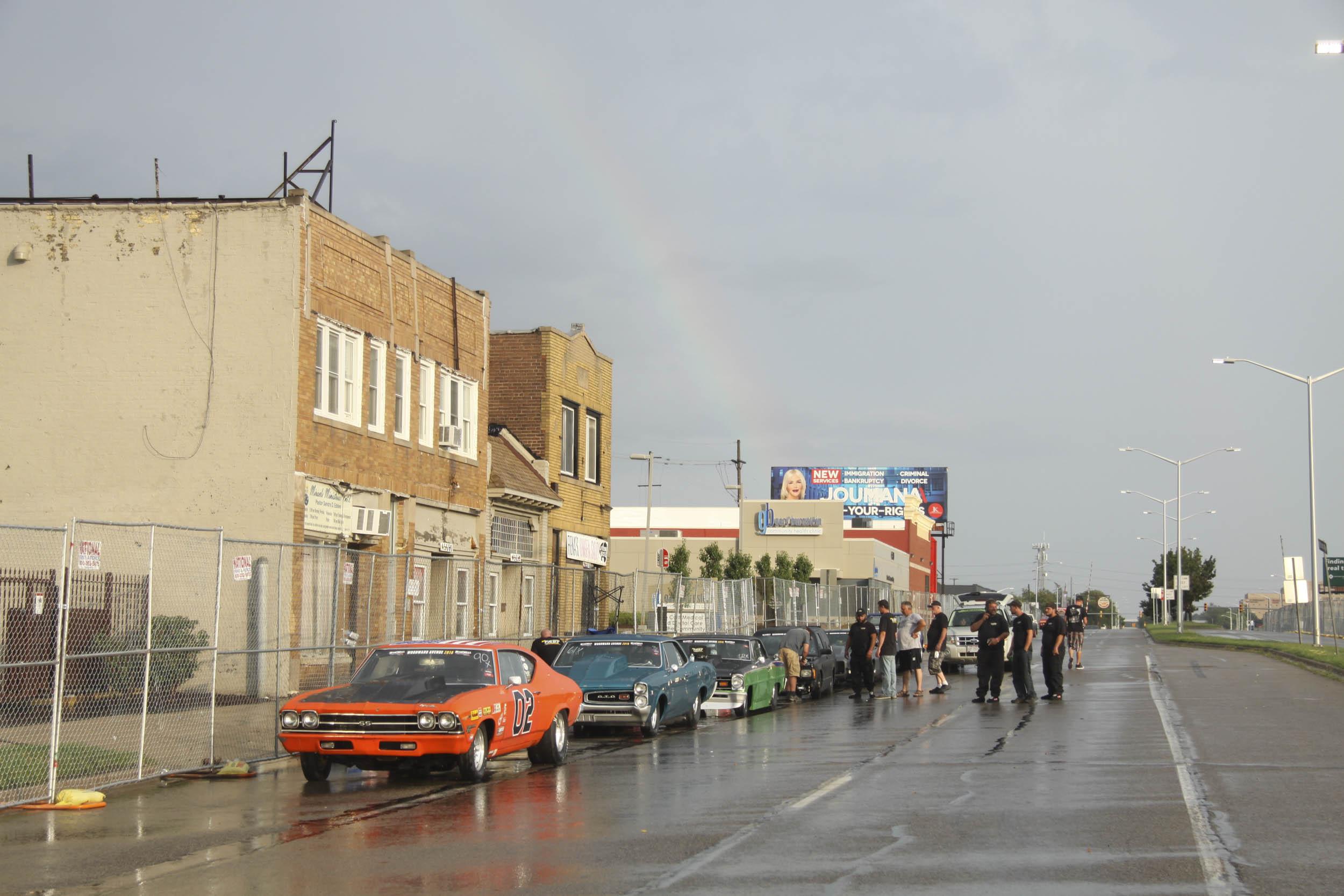 rainbow after it rains during Roadkill nights