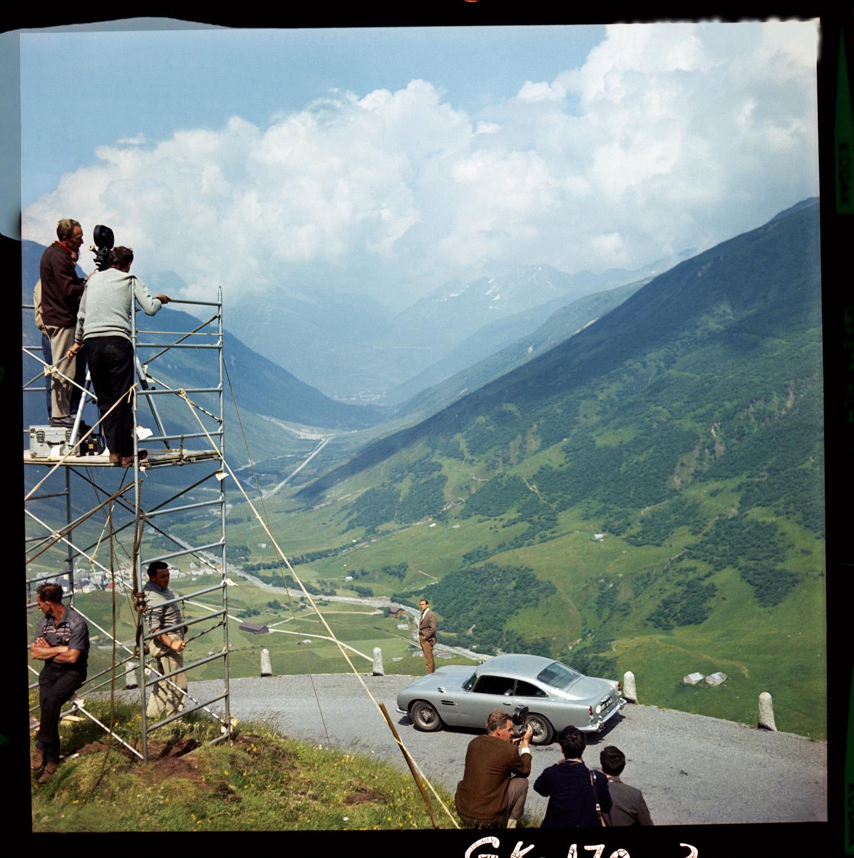 """""""Goldfinger"""" Aston Martin DB5 hillside"""