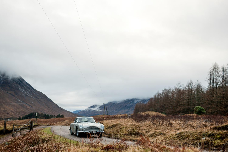 """""""Goldfinger"""" Aston Martin DB5 mountains"""