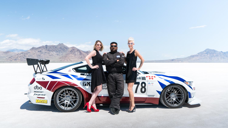 twin turbo mustang salt flats race car driver