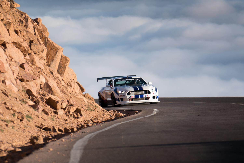 twin turbo mustang pikes peak rocky road