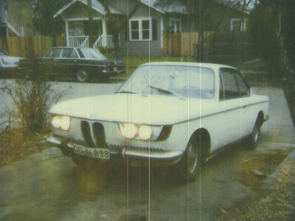 The 2000C coupe that I owned in the early 1980s. This one had a U.S.-spec headlight conversion. You can see the soon-to-be-classic E9 coupe lines marred by the unusual nose and the narrow wheel track.