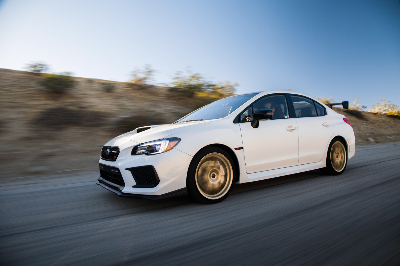 Subaru WRX STI Type RA white driving