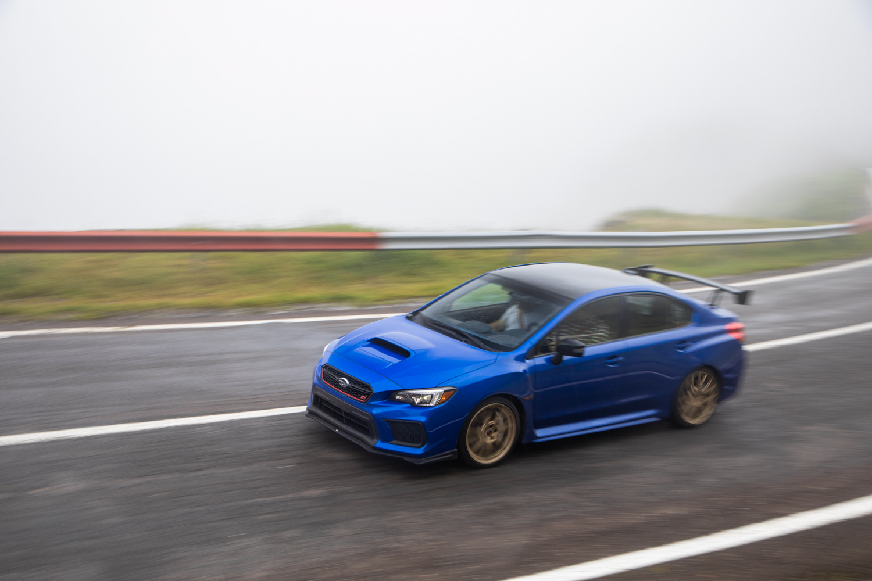 Subaru WRX STI Type RA in motion
