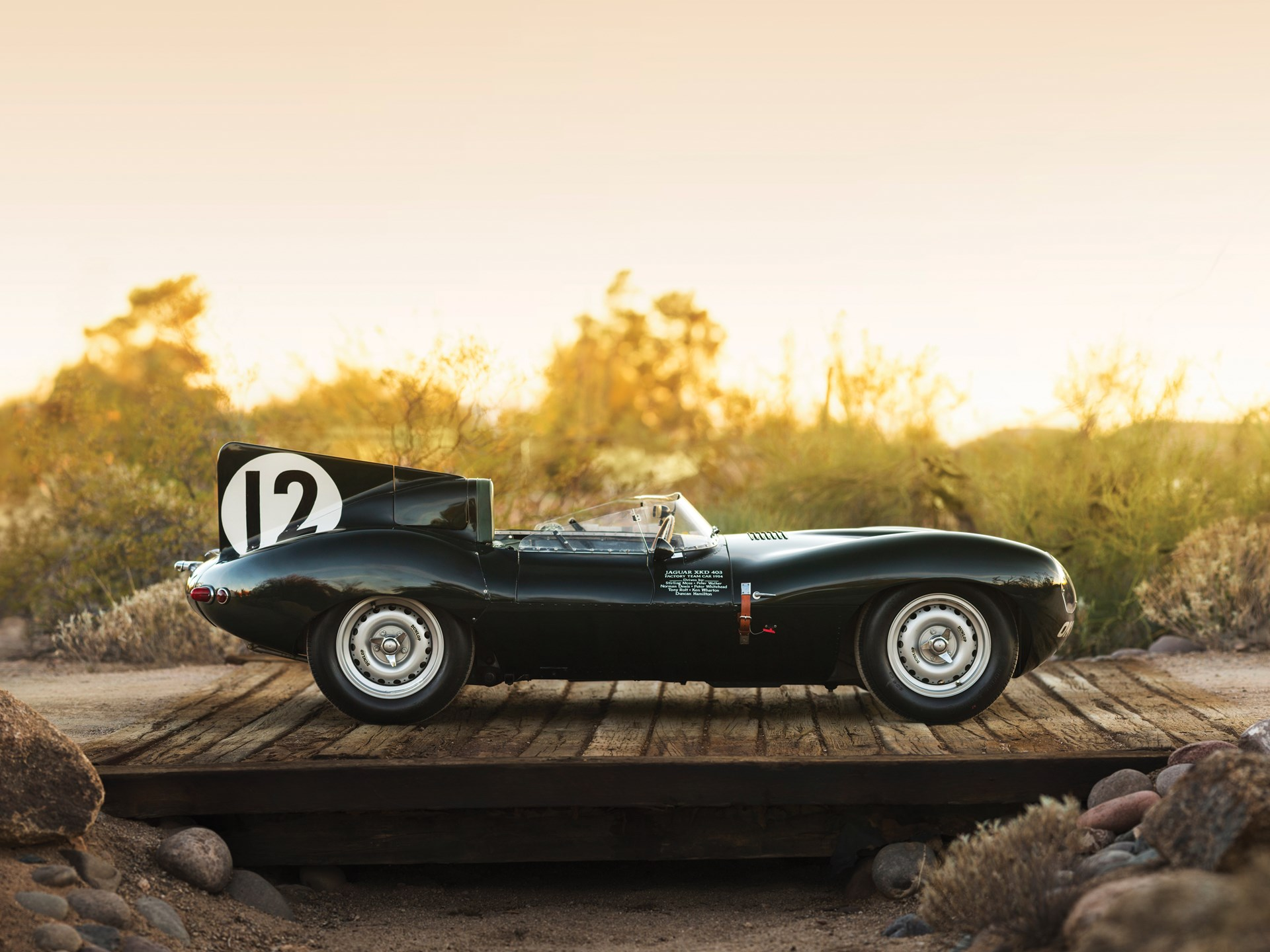 1954 Jaguar D-Type Works side profile fin
