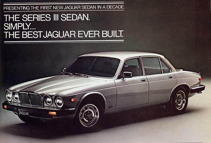 1980 Jaguar XJ6 advertisement silver