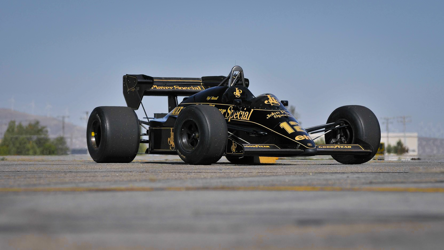 1984 Lotus Type 95T  front 3/4 John player special