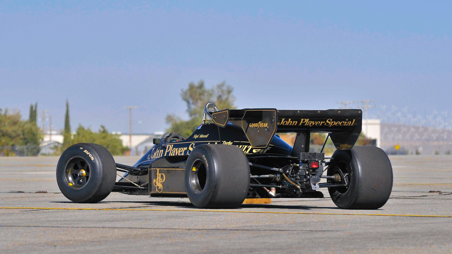 1984 Lotus Type 95T 3/4 rear john player special