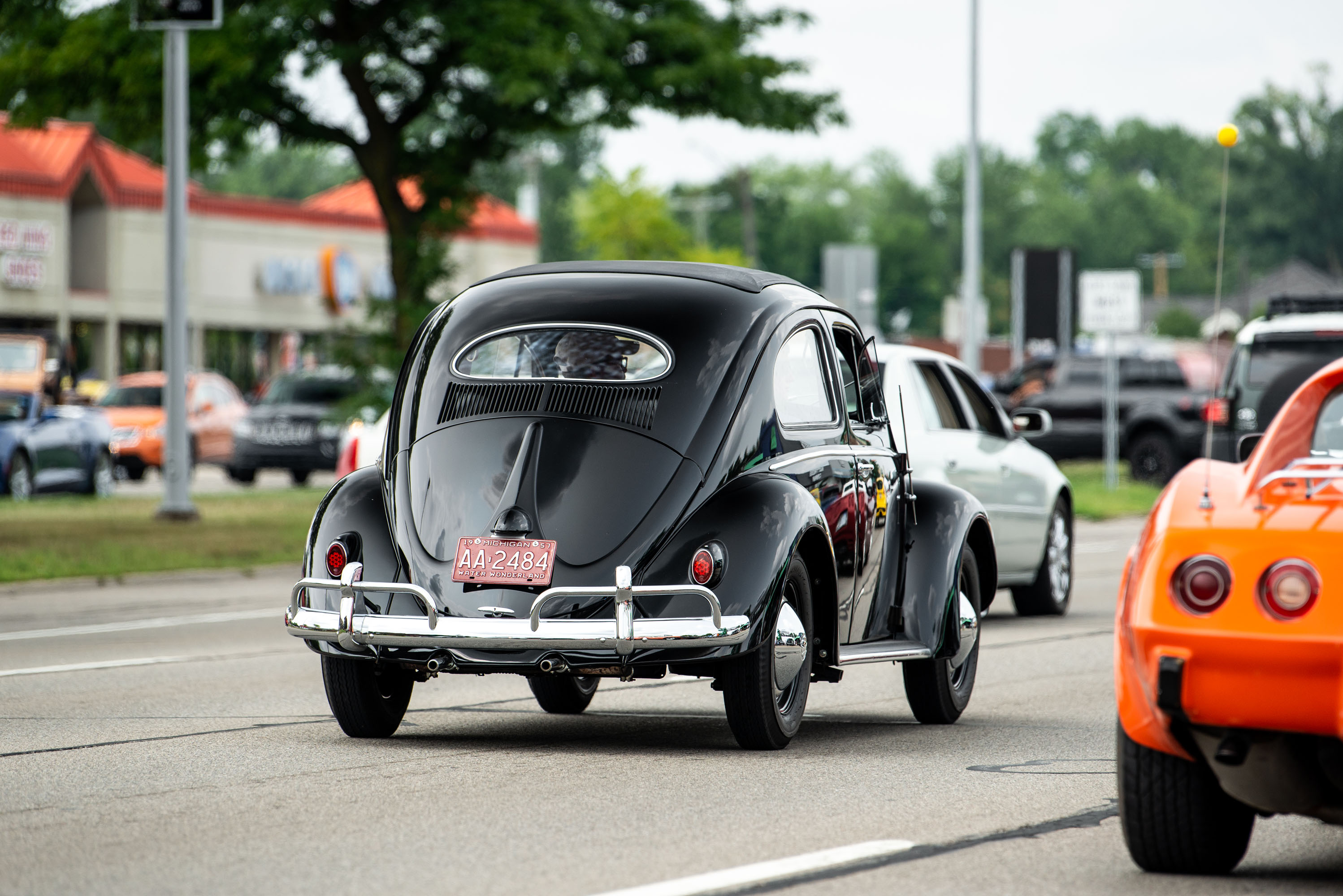 woodward dream cruise vw beetle black rear