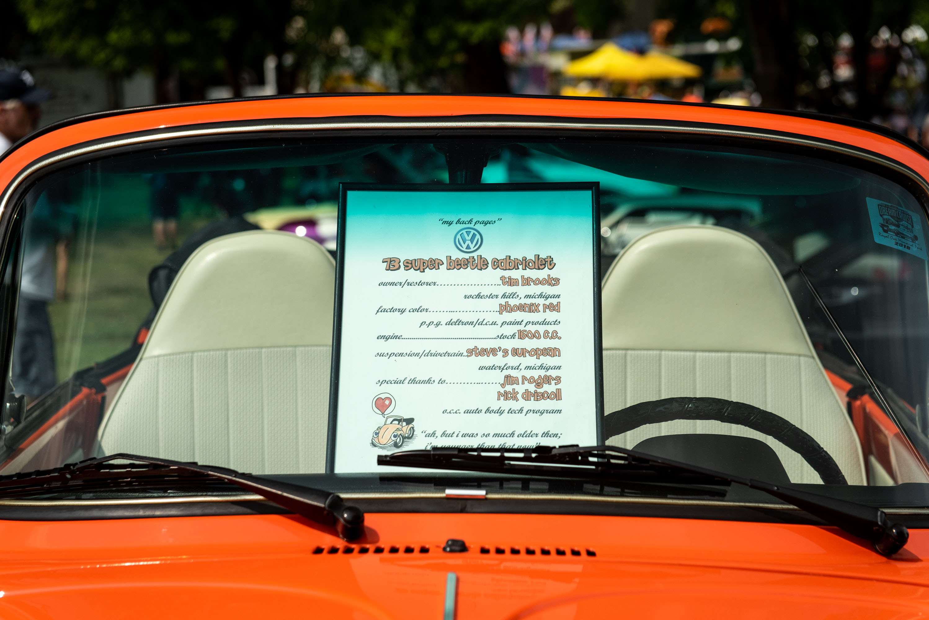 woodward dream cruise super beetle description