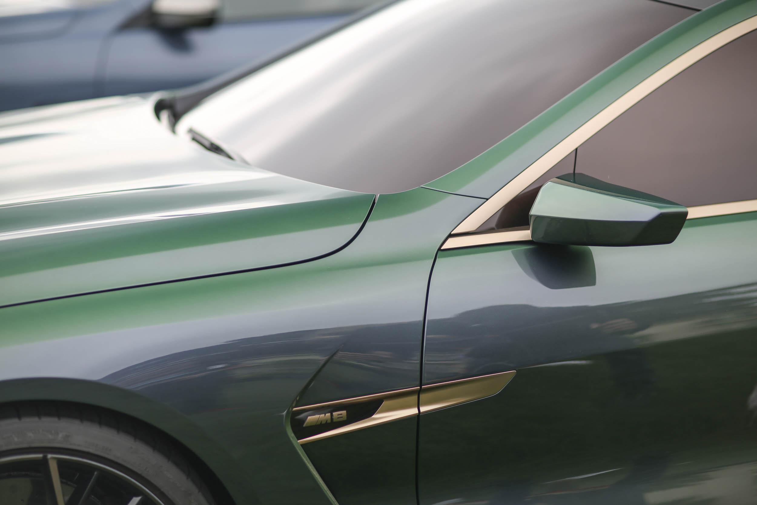 BMW M8 Gran Coupe side detail