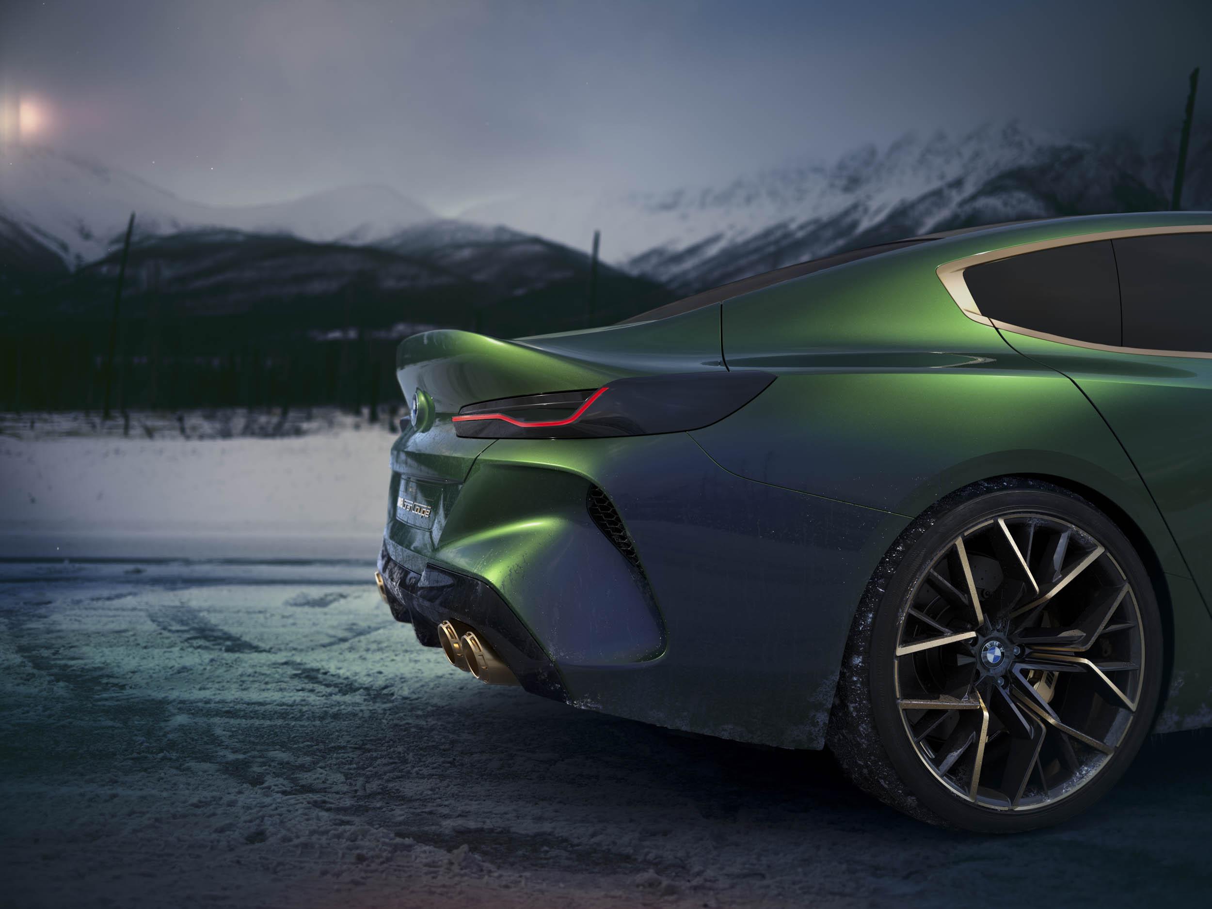 BMW M8 Gran Coupe concept rear