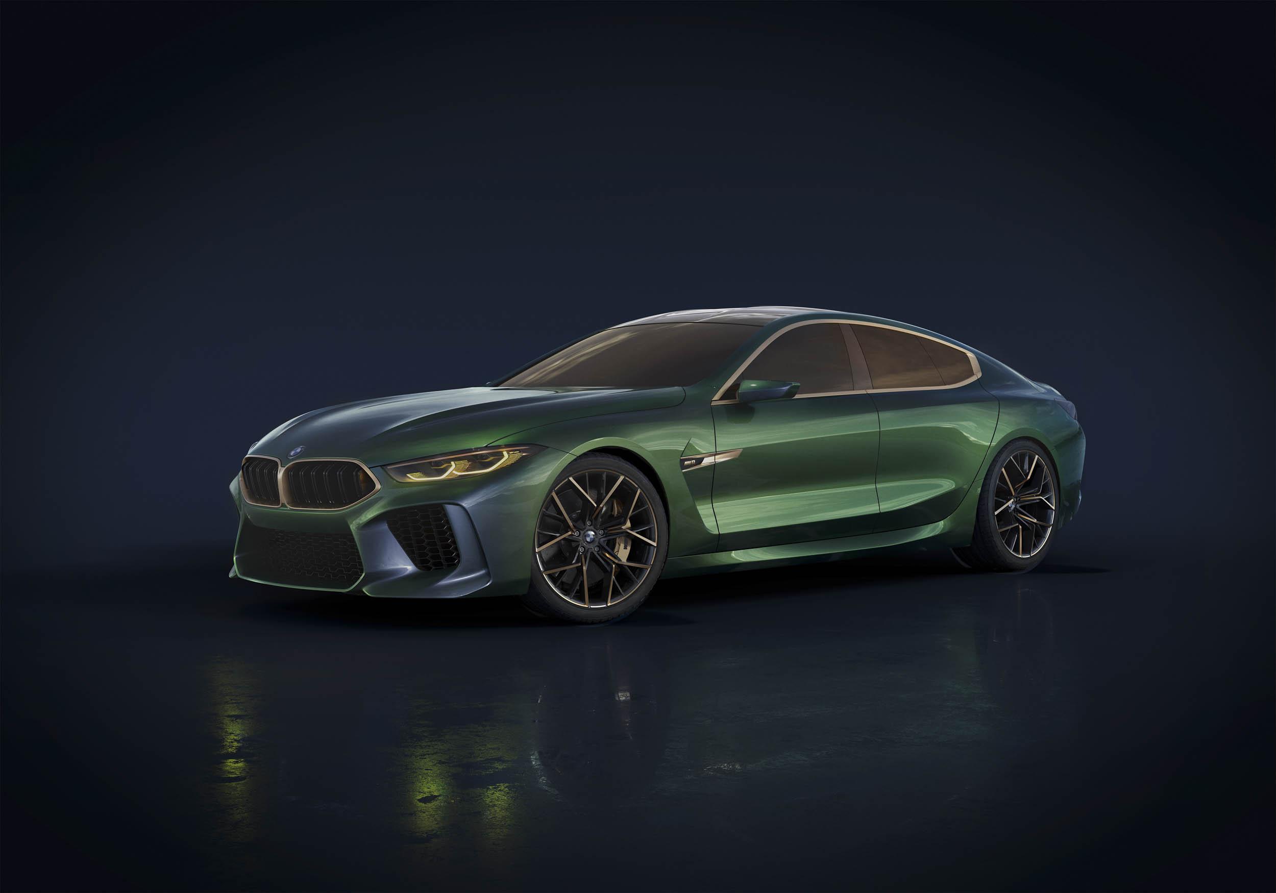 BMW M8 Gran Coupe concept front 3/4